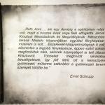 Ernst Schrupp jegyzete Roth Anniról