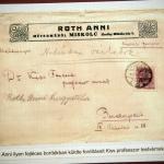 Roth Anni hagyatéka Dr. Kiss professzornak címzett borítékban